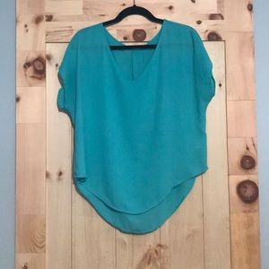 Like New! Lush Teal Blouse Size M